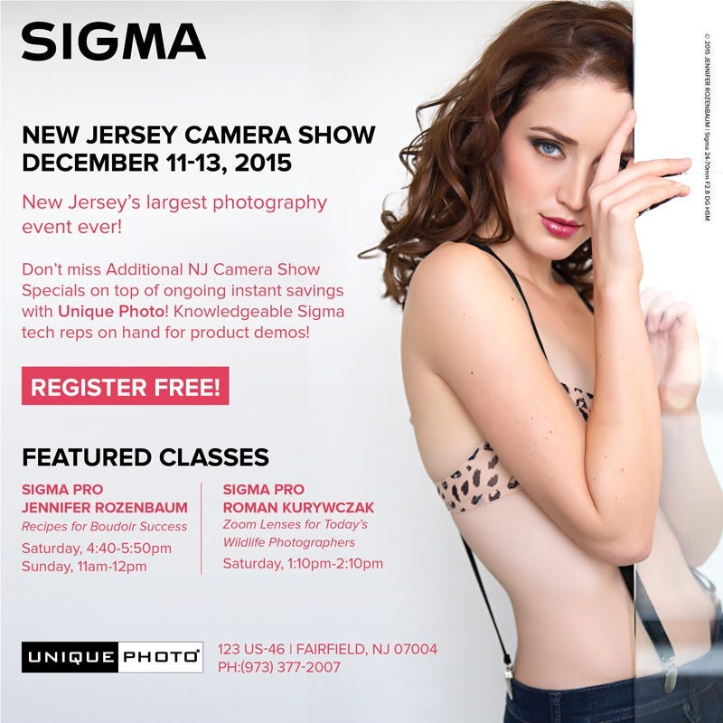 Visit Sigma at the New Jersey Camera Show at Unique Photo on Dec 11-13, 2015!